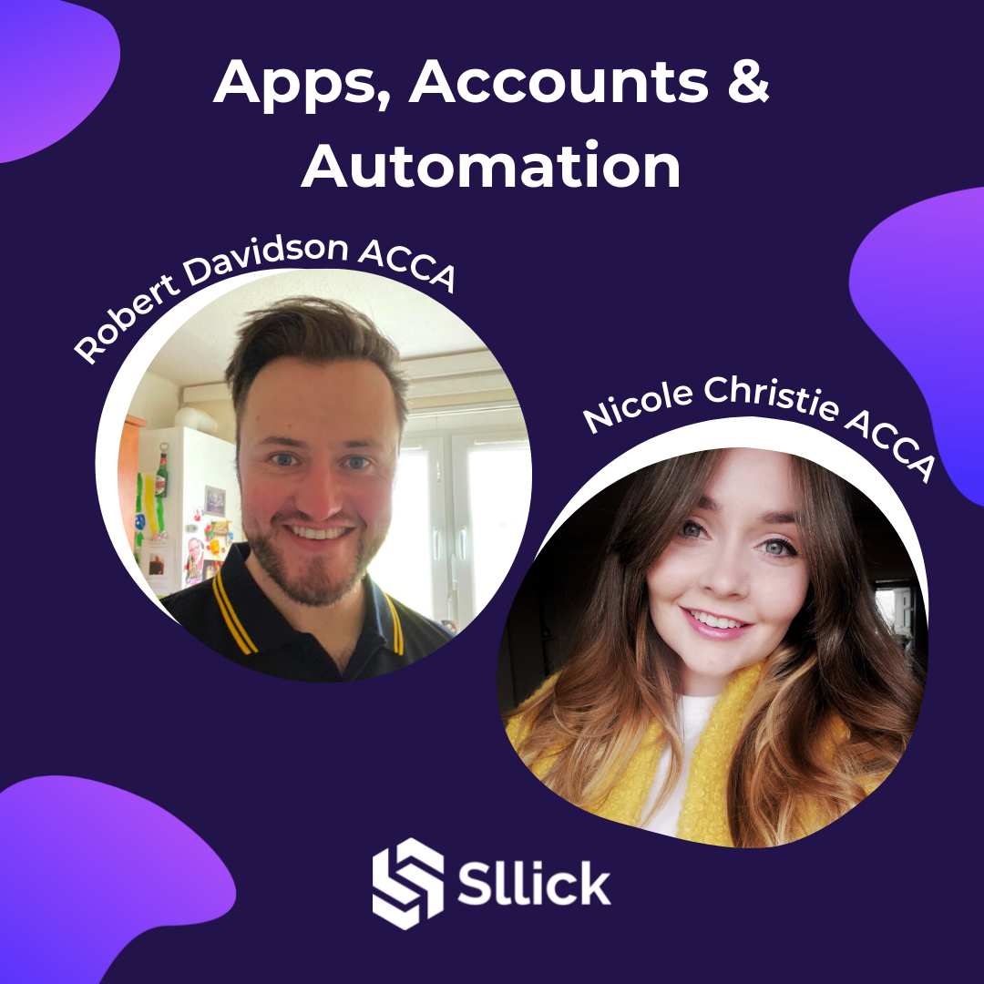 Sllick's two founders - Robert Davidson and Nicole Christie