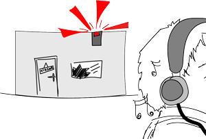 An audible alarm