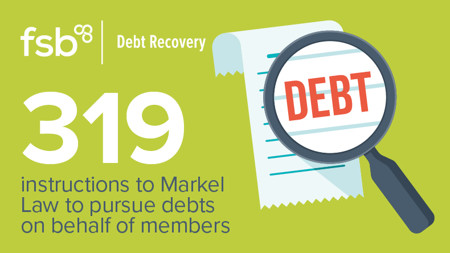 319 instructions to Markel Law to pursue debts on behalf of members