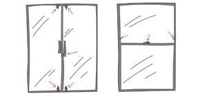 Window and Patio door lock positions