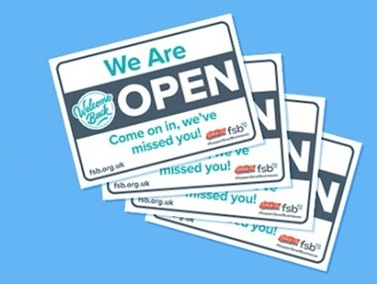 COVID-19: A4 Printable we are open signs