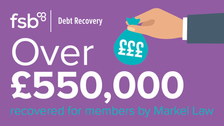 Total of over £550,000 recovered for members