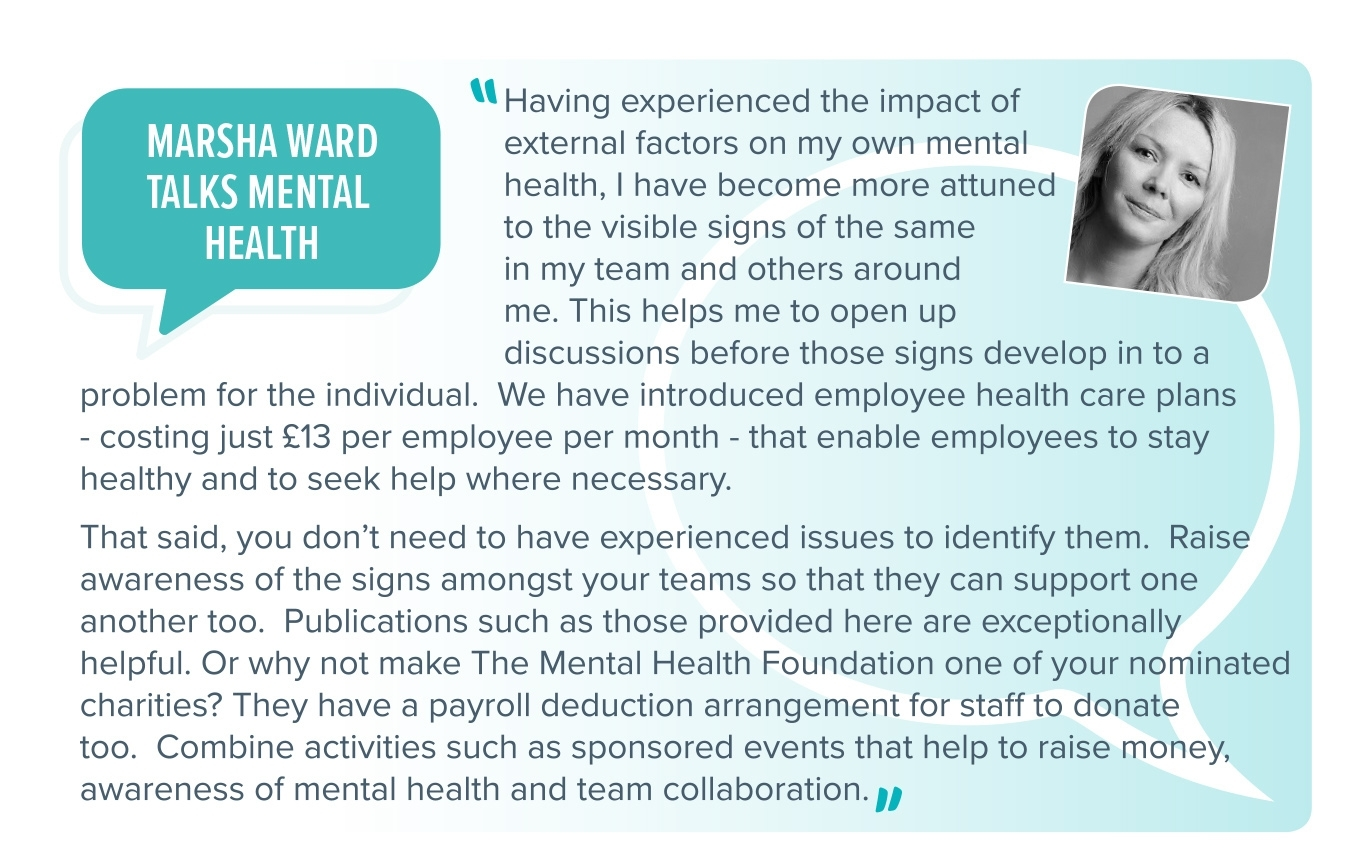 Marsha Ward talks mental health