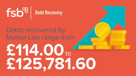 Debts recovered range from £114.00 to £125,781.60
