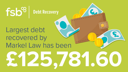 Largest debt recovered has been £125,781.60