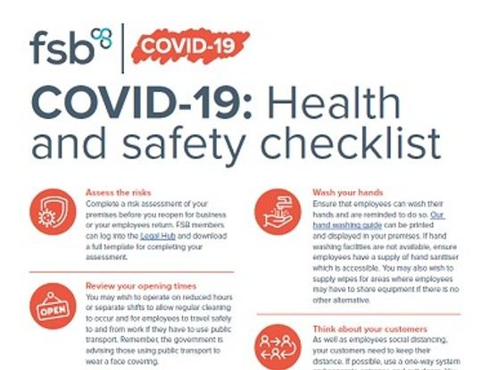COVID-19: Health and safety checklist