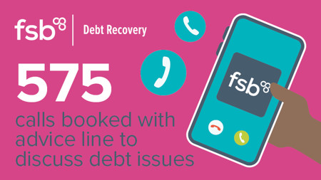 575 calls booked with advice line to discuss debt issues